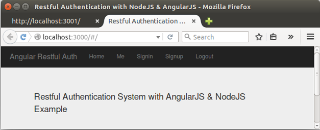 AngularJS Tutorial: Token (JSON Web Token - JWT) based auth