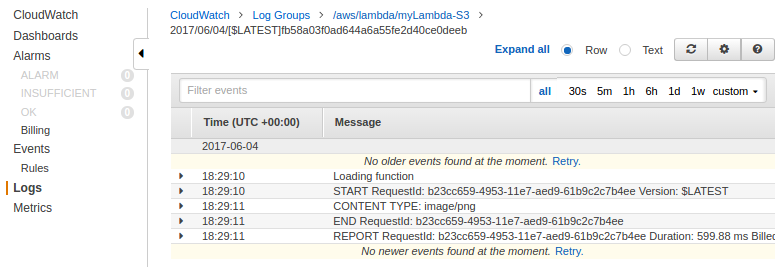 AWS CloudWatch & Logs with Lambda Function / S3 - 2018