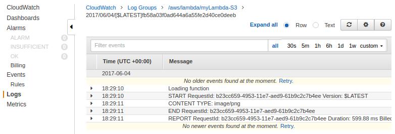 AWS CloudWatch & Logs with Lambda Function / S3 - 2018
