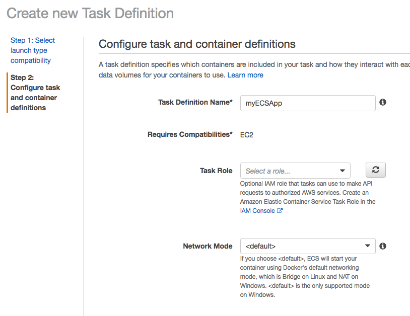 AWS : ECS with cloudformation and json task definition - 2019