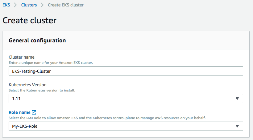 AWS : EKS (Elastic Container Service for Kubernetes) - 2019