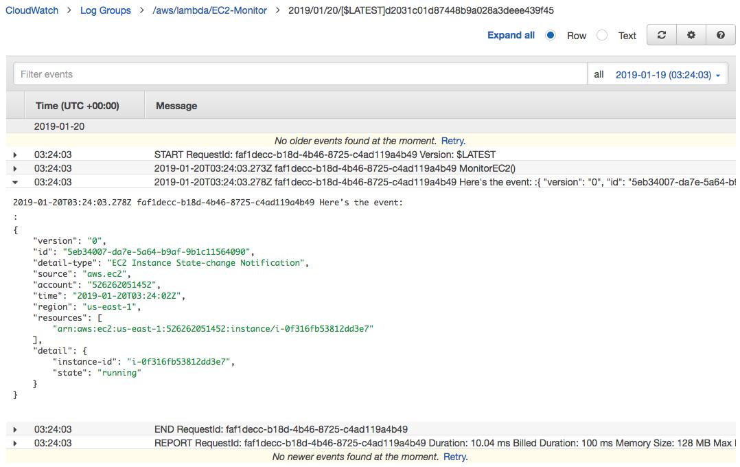AWS Lambda Serverless Computing with EC2, CloudWatch Alarm