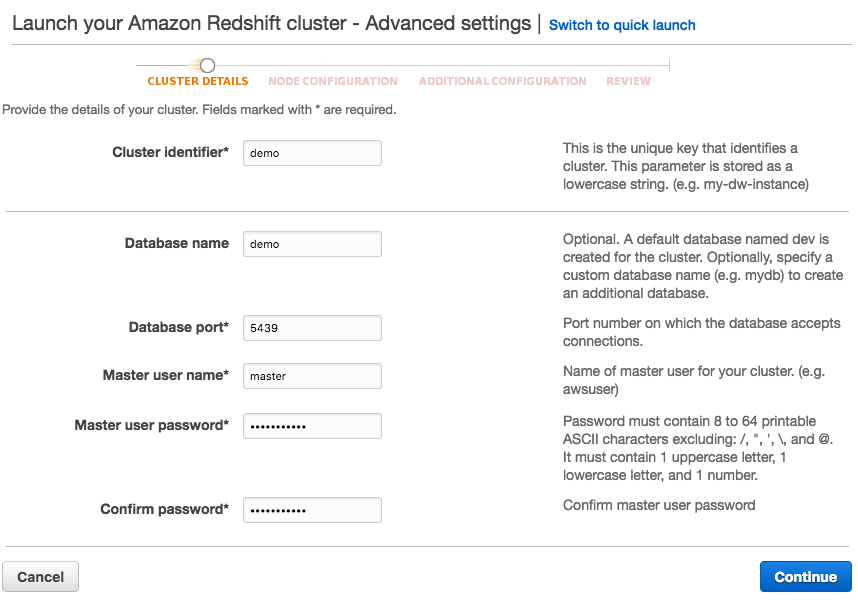 Amazon RedShift - install, data load, and query - 2019