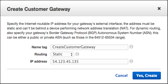 AWS Virtual Private Gateways and VPN Connections - 2018