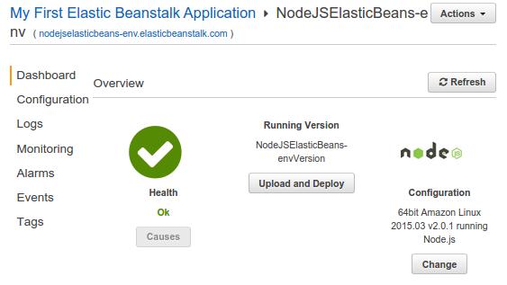 AWS Elastic Beanstalk (PaaS) with NodeJS - 2018