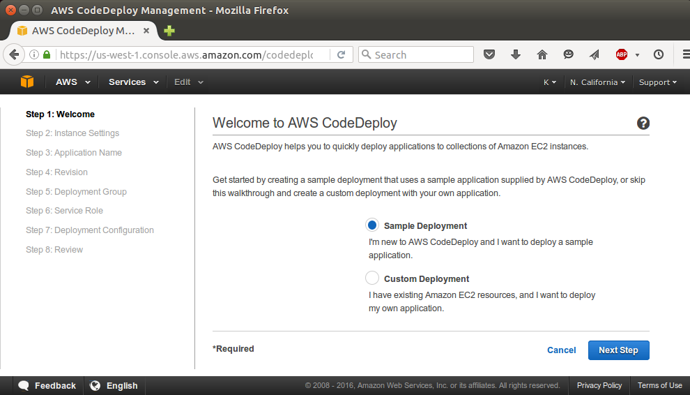 AWS CodeDeploy - Deploy an Application from GitHub 2018