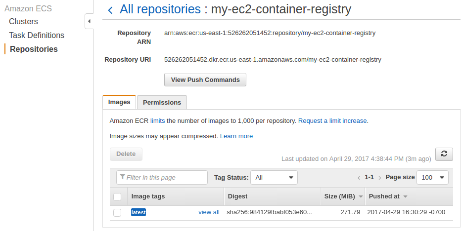 AWS Amazon EC2 Container Service (ECS) - 2019