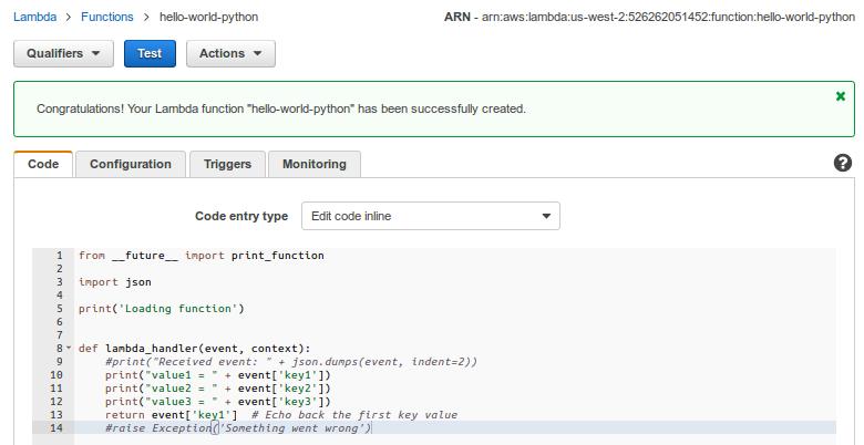AWS Hello World Lambda Function : abstracting language runtime