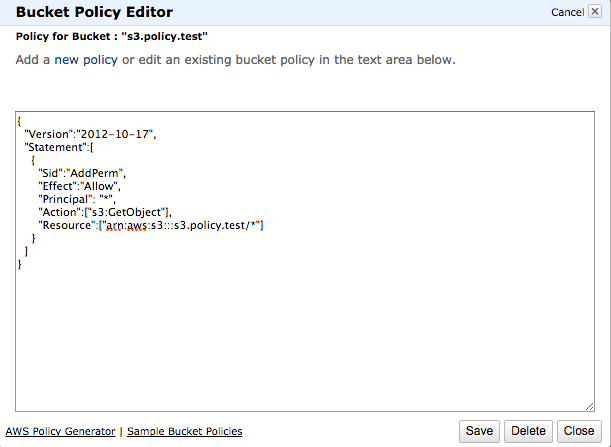 AWS : S3 (Simple Storage Service) VI - Bucket Policy for