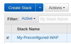 AWS : WAF (Web Application Firewall) with preconfigured