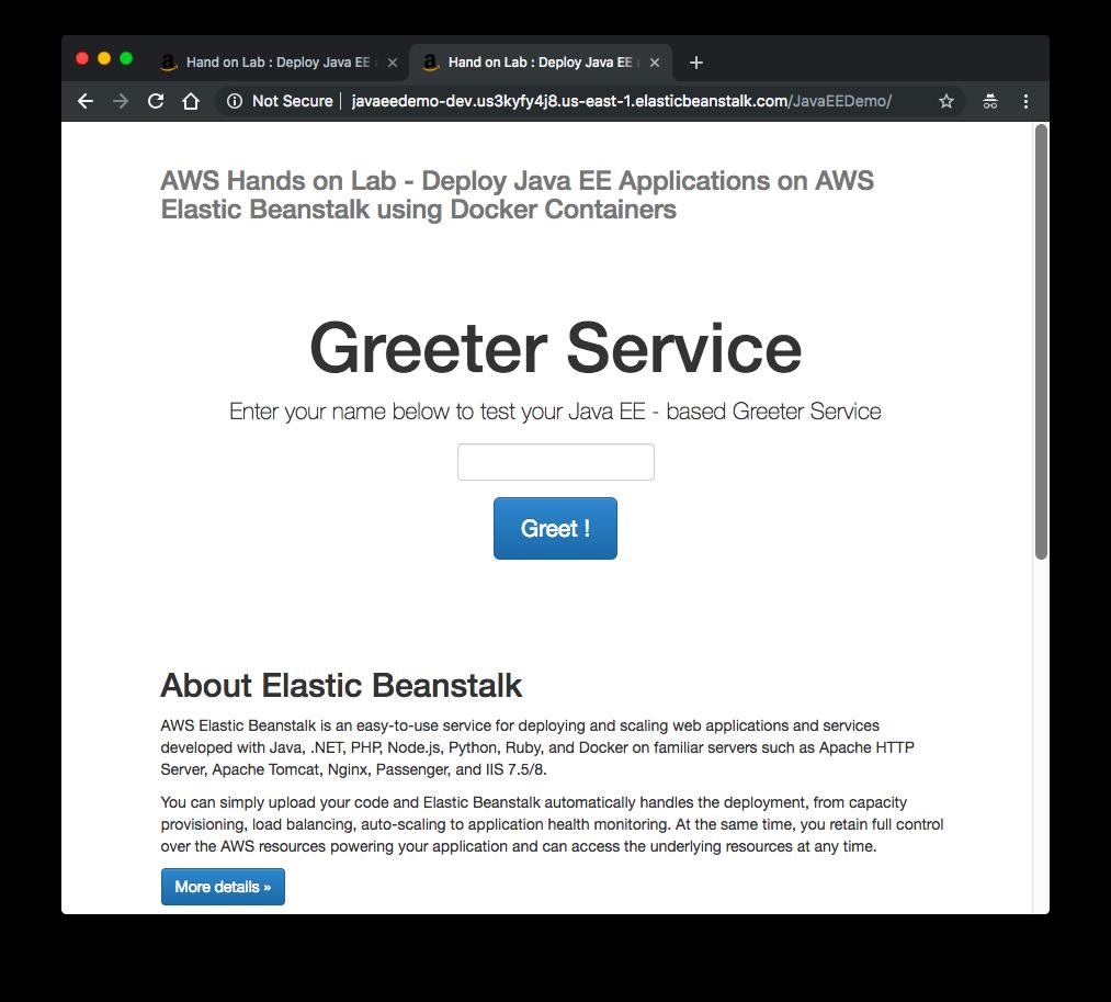 Docker - Deploying a Java EE JBoss/WildFly Application on AWS