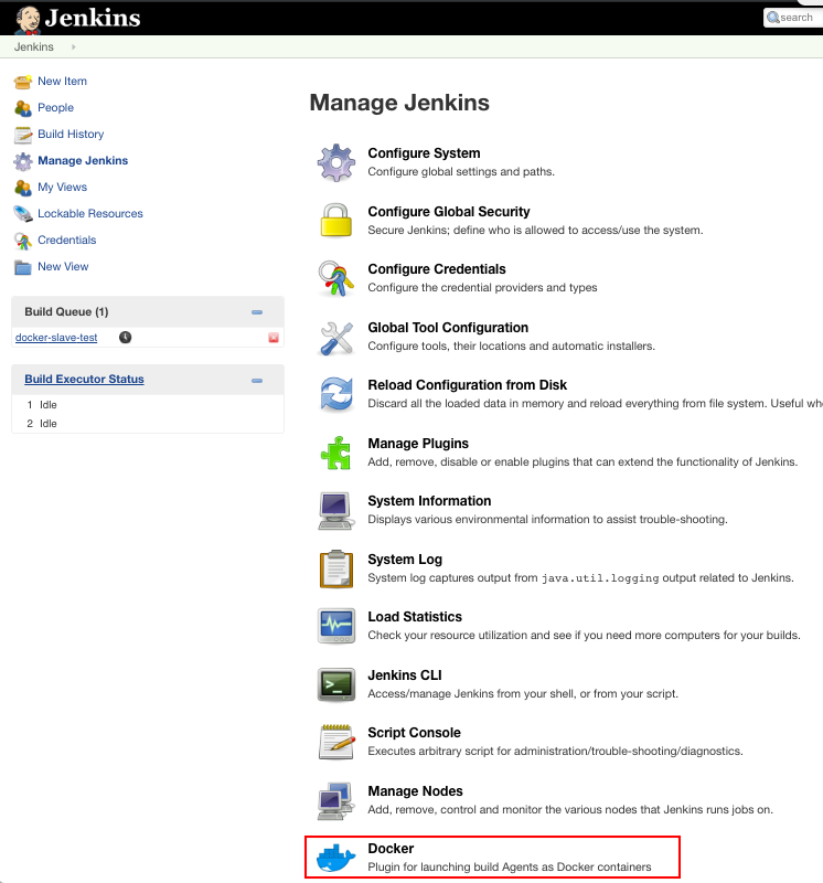 Docker : Jenkins Master and Slave (MacOSX) - 2019
