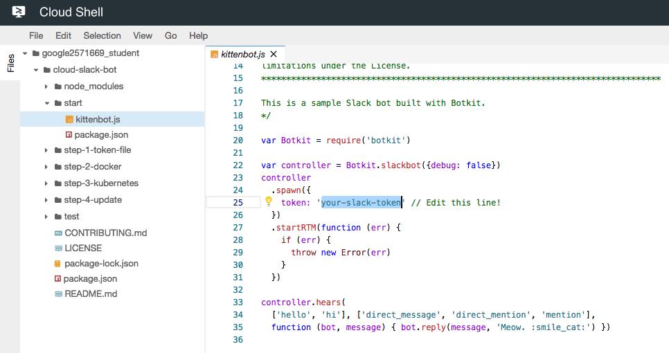 Docker : Slack Chat Bot with NodeJS on GCP Kubernetes - 2019