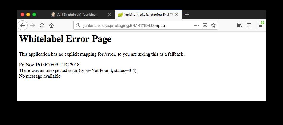 Docker & Kubernetes : Jenkins-X on EKS 2019