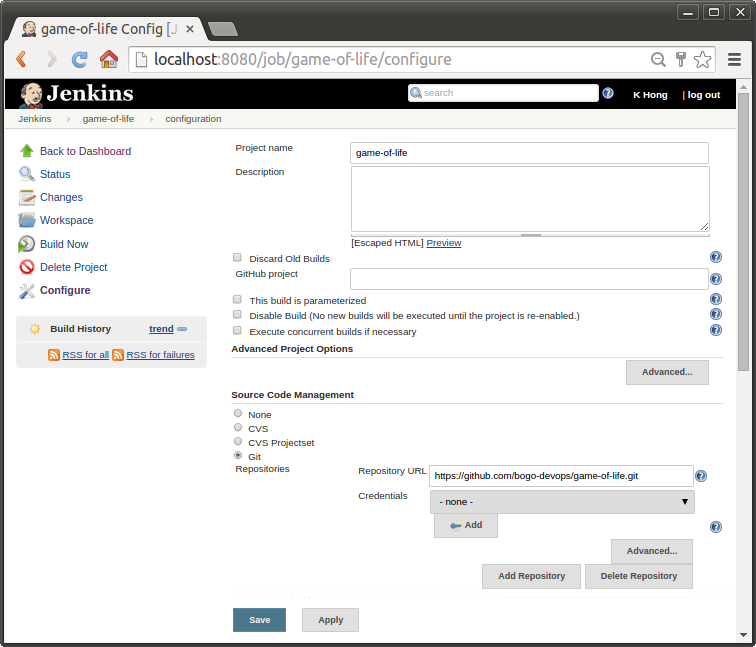 Jenkins: Build Configuration for GitHub Java application with Maven