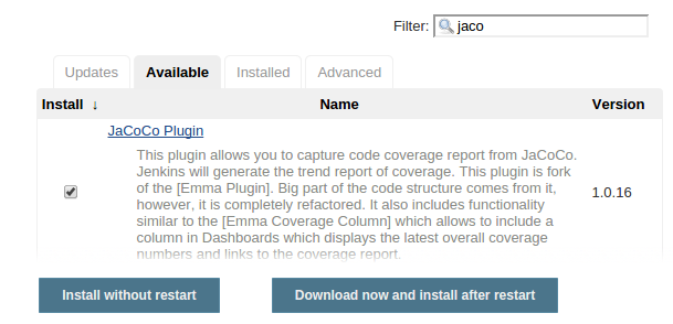 Jenkins on EC2 : 5  Line Coverage setup with JaCoCo - 2016