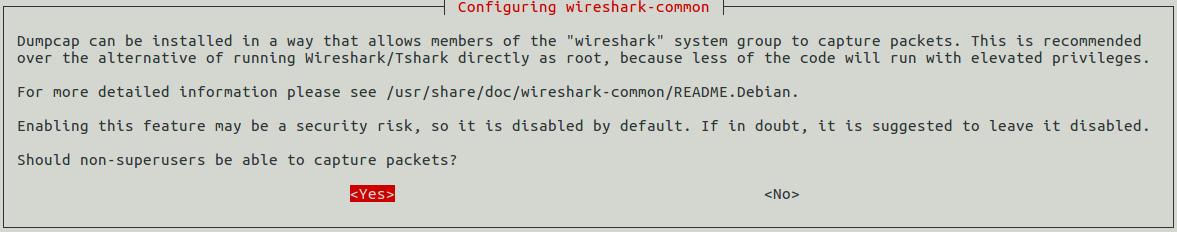 Install Wireshark Debian 9