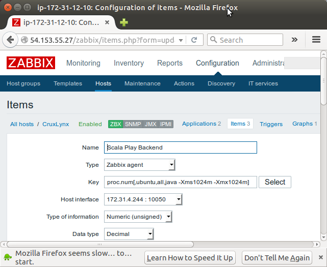 Zabbix 3 install on Ubuntu 14 04 & adding hosts / items / graphs - 2016