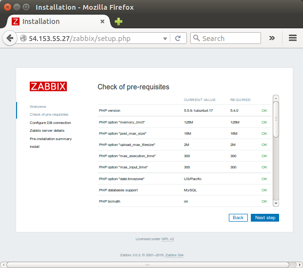 Zabbix 3 install on Ubuntu 14 04 & adding hosts / items