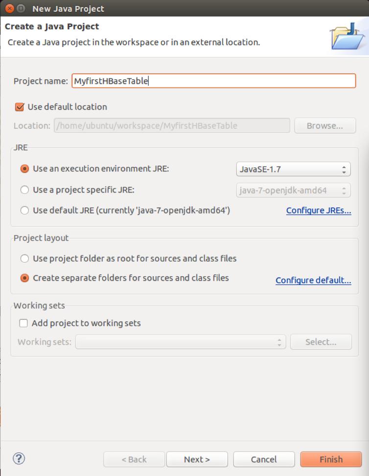 Apache Hadoop : Creating HBase Table with Java API - 2018