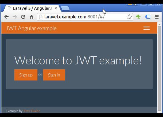 Laravel 5 and Angular Auth using JSON Web Token Part (development