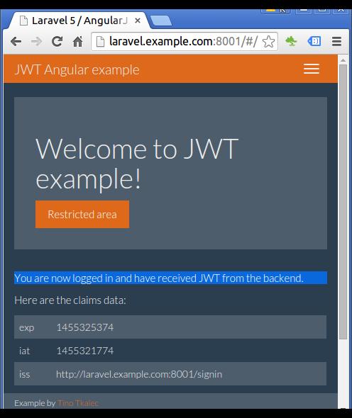 Laravel 5 and Angular Auth using JSON Web Token Part