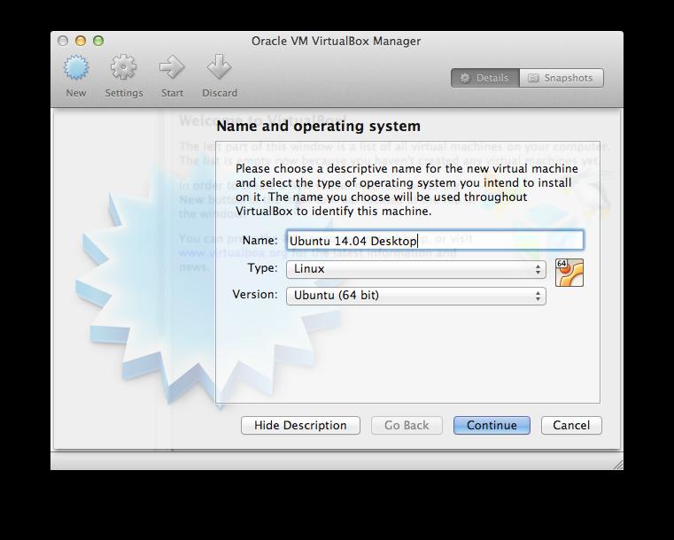 Ubuntu 14 04 guest on Mac OSX host using VirtualBox I - 2017