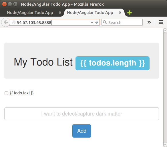 MEAN Stack Tutorial Node ToDo List App With Mongodb