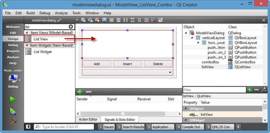 Qt5 Tutorial ModelView with QListView and QStringListModel