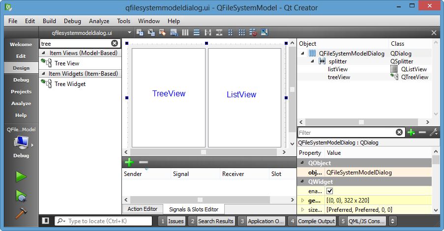 Qt5 Tutorial ModelView with QTreeView and QFileSystemModel
