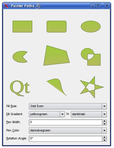 Qt5 Tutorial QPainterPath and QPolygon - 2018