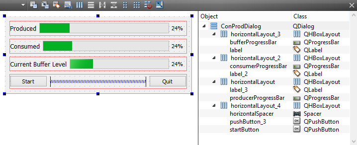 Qt5 Tutorial QThreads and QSemaphore for Producer and