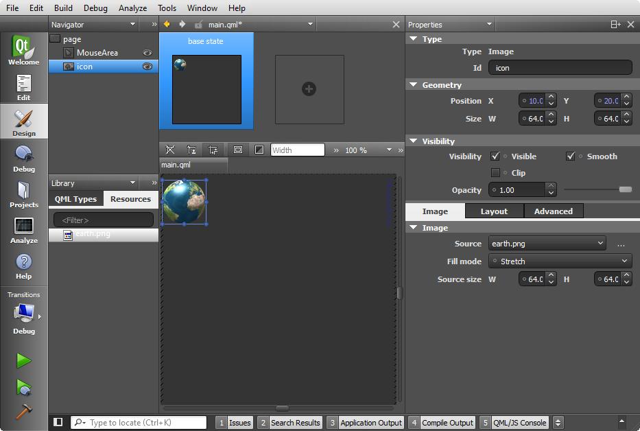 Qt5 Tutorial Creating QtQuick2 QML Application Animation A