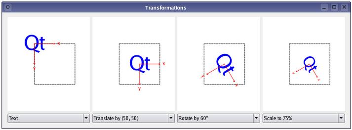 Qt5 Tutorial QPainter Transformations - 2018