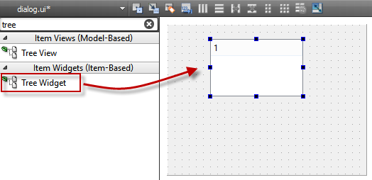 Table, list and tree widgets are components frequently used in guis