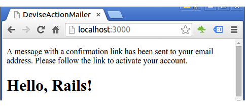 Rails : Authentication and sending confirmation email using Devise