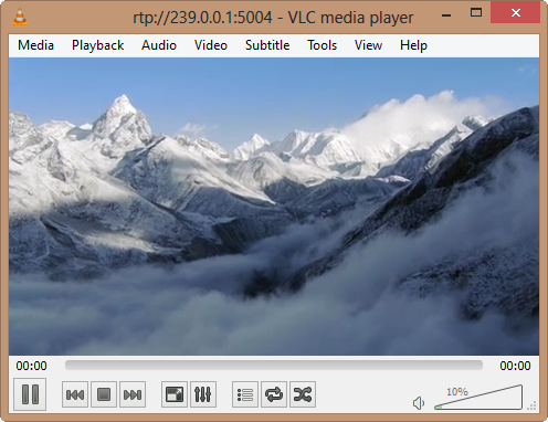 RTP Live Streaming using VLC - 2018