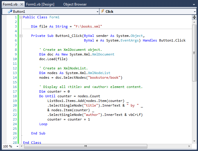 how to write xml file in vb net 2005