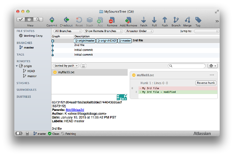 Sourcetree Stash Changes