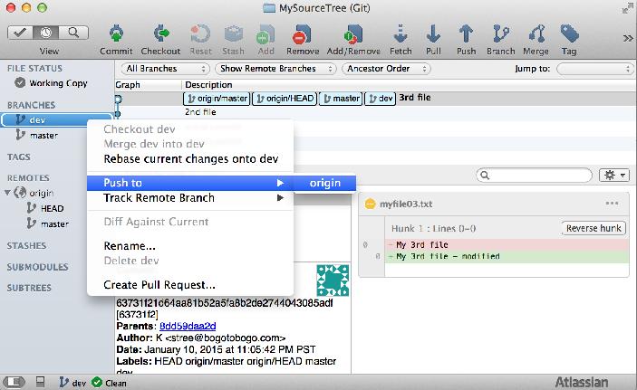 Tutorial Git and GitHub : Source Tree II (Branching