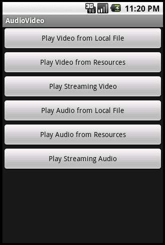 Android mediaplayer and videoview tutorial.