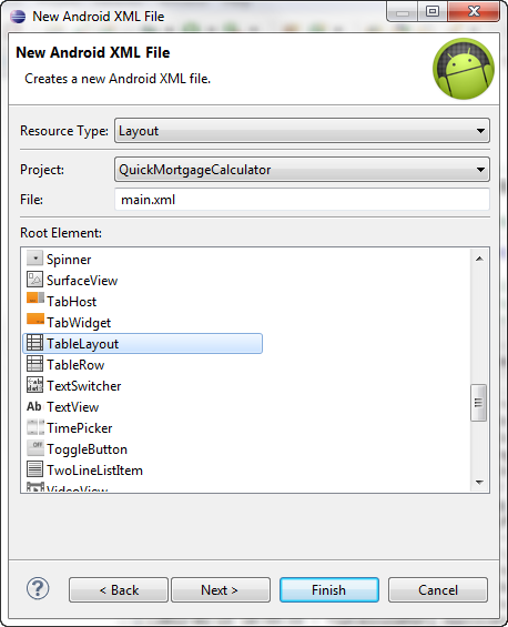 Android 4 - Apps  Mortagage Calculator - 2018