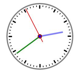 SVG Basics: SVG Example: SVG animated clock with Javascript