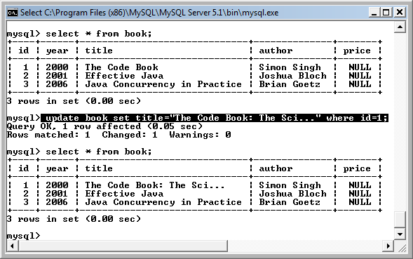 Sql command to update a field value travellin for Sql update table