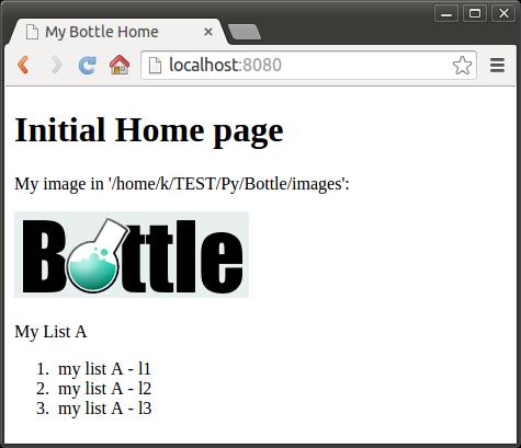 Bottle micro web services framework 3 : templates - 2018