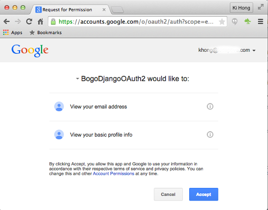 Django: Python social auth, Facebook, Twitter, and Google