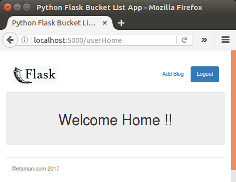 Flask blog app tutorial 3 : Adding blog item - 2018