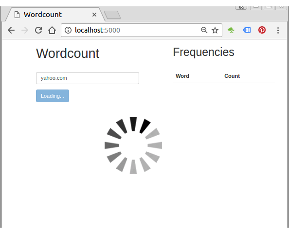 Flask app 5 : Word counts app with AngularJS front-end