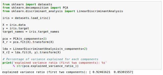 scikit-learn : Data Compression via Dimensionality Reduction